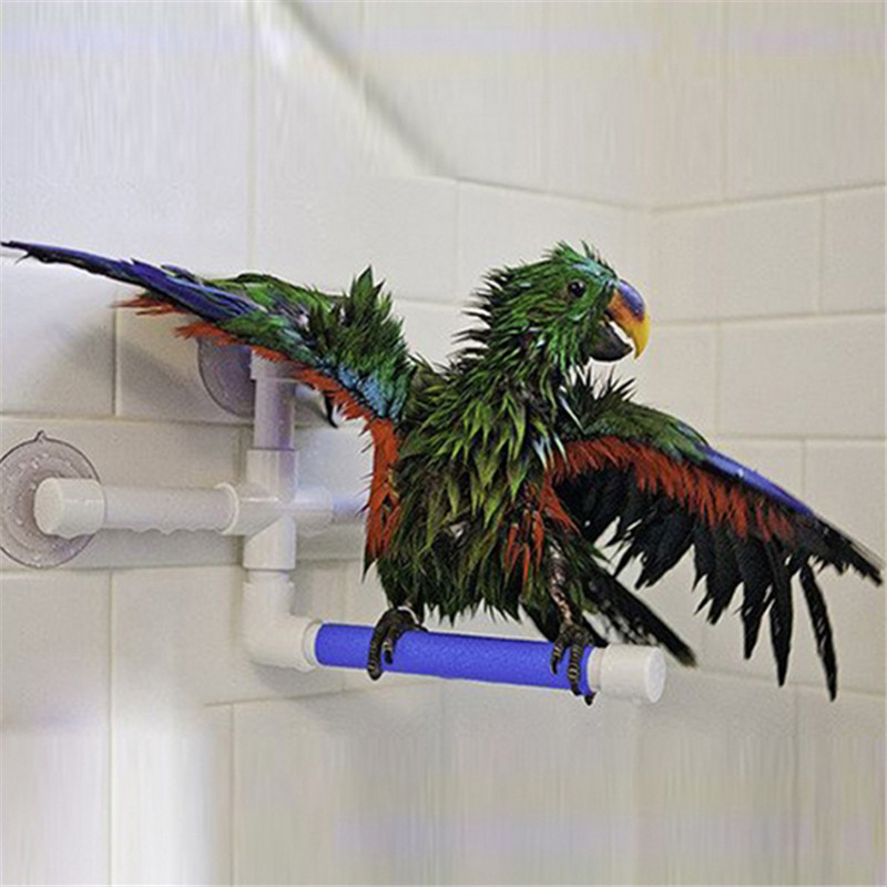 Parrot Toy Standing Platform Rack Parrot Standing Bath Shower Perch Parakeet Bird Toy Parrot Toys Large Bird Cages For Parrots
