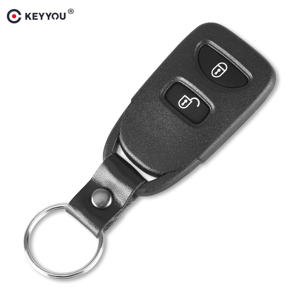 KEYYOU Car Key Shell Case 2 Buttons Remote Key Blank Cover Fit For Hyundai IX25 Tucson autewode remote key case shell cover fits for fiat 500 panda punto bravo car alarm keyless car accessories 1pc colorful