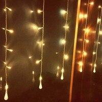 3.5 × 0.7メートル16バブル水滴ledストリングクリスマスライトクリスマスウェディングランプ花輪ルセスデナヴィ