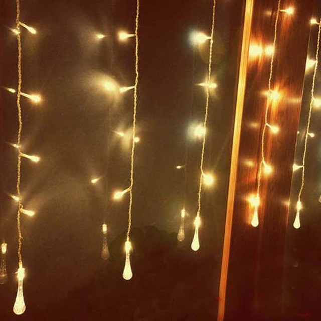 3.5x0.7M 16 Bubble Water Droplets LED String Fairy Lights Christmas ...