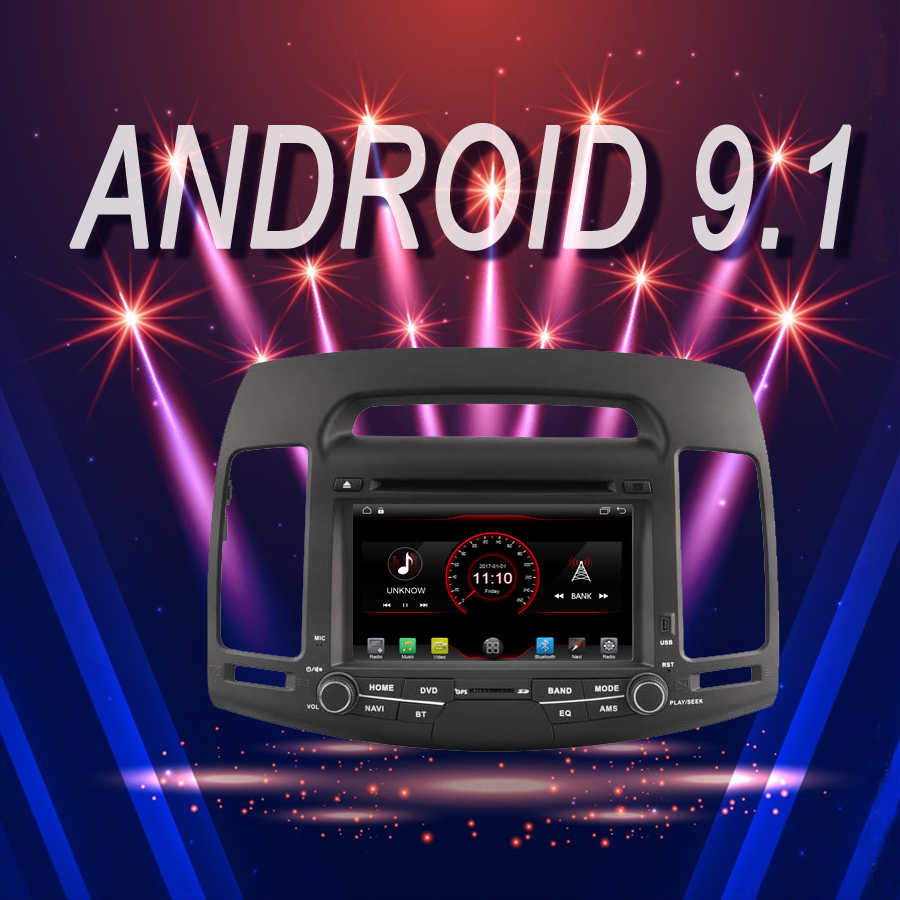 OTOJETA Brand Car Android 9.1 Multimedia <font><b>Player</b></font> for <font><b>HYUNDAI</b></font> <font><b>ELANTRA</b></font> 2007-2011 GPS Navigation Device with Camera Aux bluetooth image