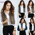 New Fashion Women Casual Sleeveless Faux Fur Short Jacket Vest Coat Outwear S-XXXL