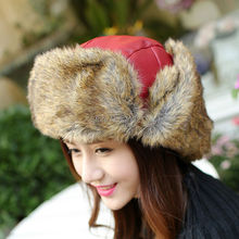 High Quality 2015 Winter Warm Proof Trapper Hat Women Aviator Hat Russian Hat Sport Outdoor Ear Flaps Bomber Caps for Men Women