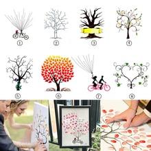 Свадебные сувениры Гостевая книга креативный отпечаток пальцев подпись DIY книги для гостей детская игрушка в ванную День Рождения украшения 7A0420