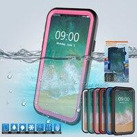 20 Sztuk/partia NOWY Wodoodporna Obudowa Dla iPhone X Z Podstawą Holder Telefon Przypadki Podwodne Pływanie Surfing 360 Pełna Pokrywa z