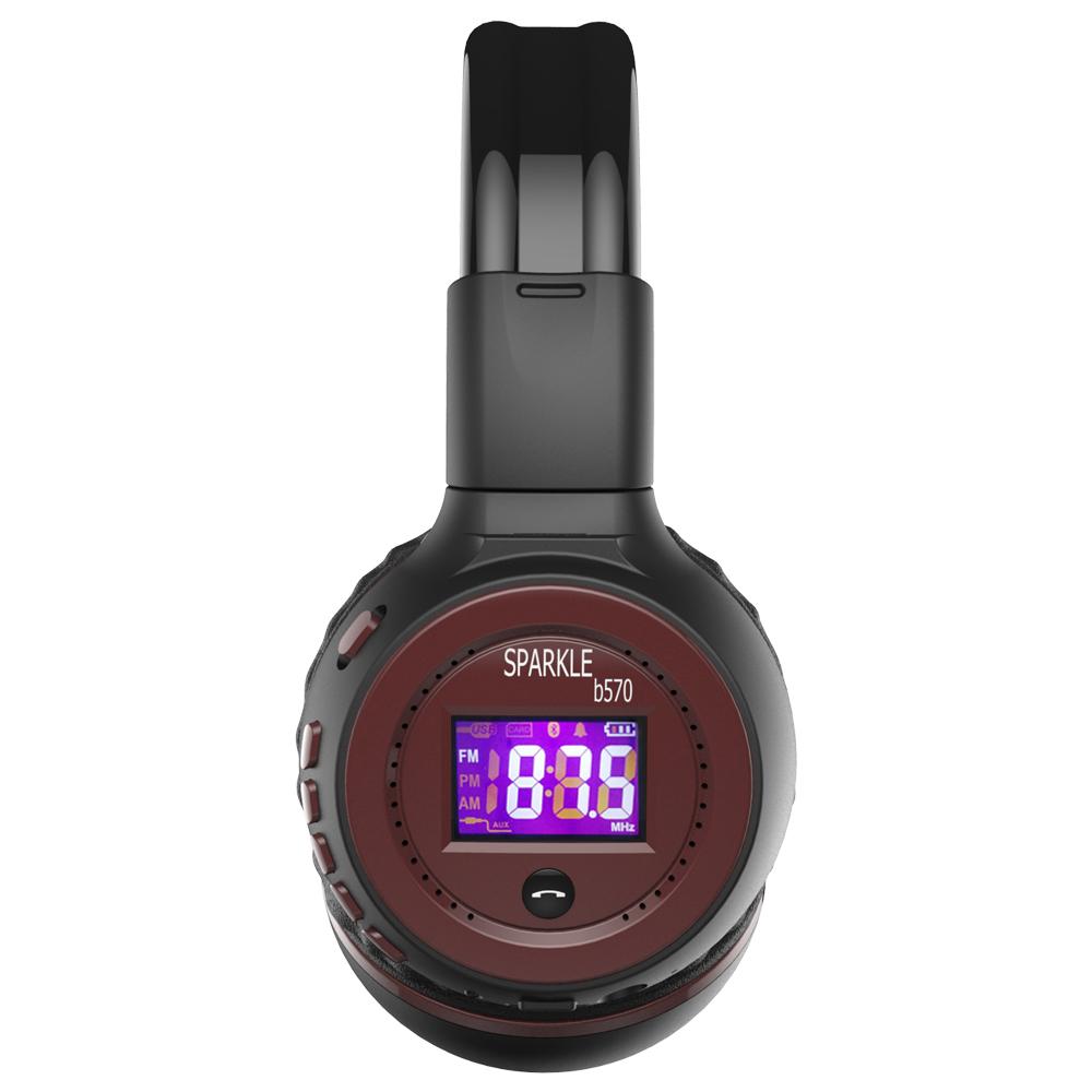 Zealot B570 Earphone Headphone with LCD Screen Bluetooth Headphone Foldable Hifi Stereo Wireless Headset FM Radio TF SD Slot 25