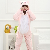 Madre Figlia del Padre Ragazzo Abiti Famiglia Corrispondenza Degli Indumenti Con Cappuccio Pigiama Cartoon Animal Pink Pig Cosplay Pigiama Pigiama