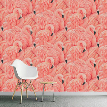 beibehang Custom 3d wallpapers hand painted flamingo florist European mural background wall decoration