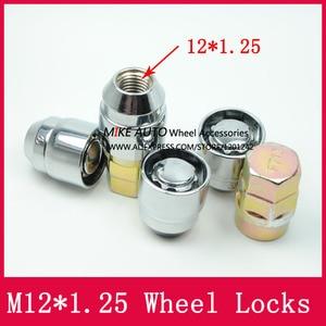 Image 2 - 4 אגוזים + 2 מפתחות M12x1.25 1.25 גלגל אגוזי נעל מנעולי אבטחה נגד גניבת אגוז Fit עבור ניסן Teana Bulebird sylphy הקאשקאי LS010 06
