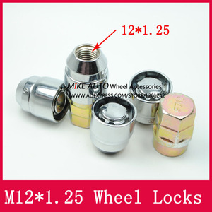Image 2 - 4Nuts+2keys M12x1.25 1.25 Wheel Locks Lug Nuts Anti theft Security Nut Fit For Nissan Teana Bulebird Sylphy Qashqai  LS010 06