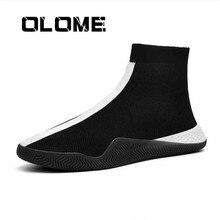 Mens Fashion Socks Shoes Man Sneakers Male Flying Running Shoes Casual Walking Shoe Footwear Autumn 2019 Black White Red Shoe