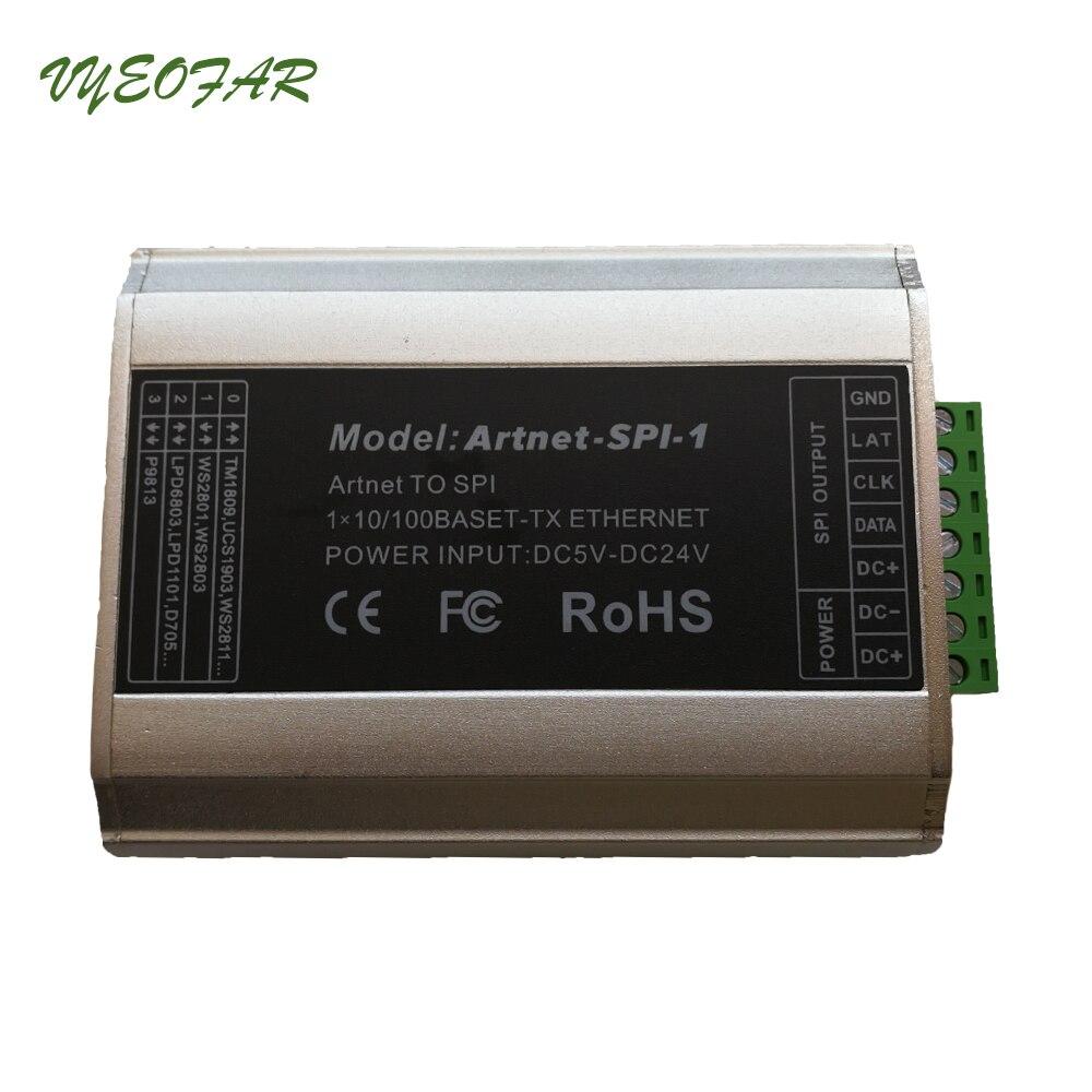 Entrée Artnet-SPI-1 DC5-24V LTECH; sortie de signal numérique SPI (TTL) convertisseur Artnet vers SPI conduisant 2801,6803, 1804,2811, 1903 ci, etc. - 3