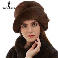 Женские зимние с мехом кролика шляпа с меха лисы цветы вязаные шапочки 2016 новая мода Хорошее качество дамы натуральный мех Шапки