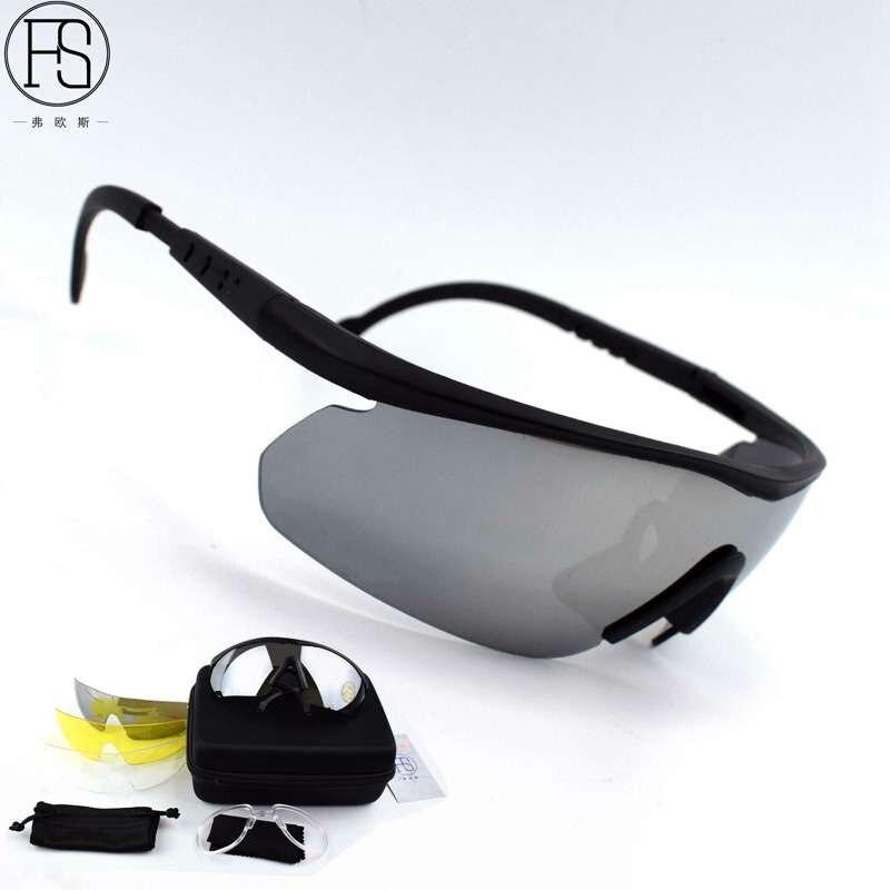 a7fdf9b3bc638 C2 óculos Homens óculos Óculos De Moto óculos óculos de Esportes Ao Ar  Livre Tático Militar com 4 lentes Óculos Óculos Oculos