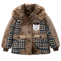 Baby Boy Winter Outwear 2015 New Toddlers Baby Boys Jacket Freaky Faux Fur Warm Coat