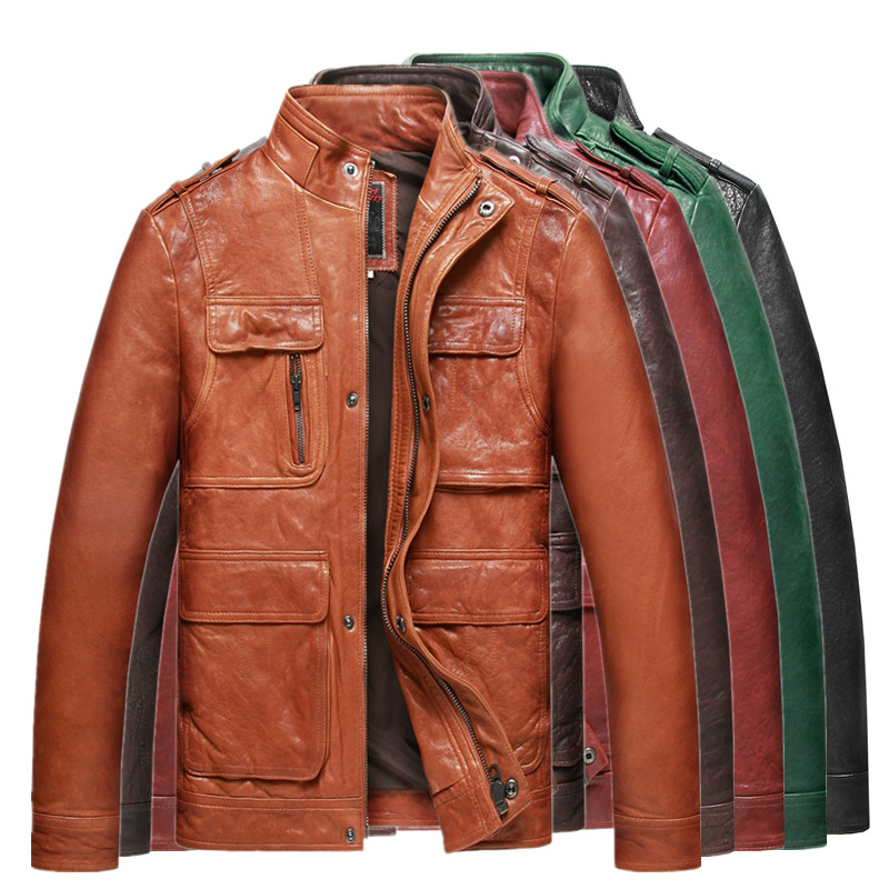 Online Shop Five colors Italian Vegetable Tanned Sheepskin Leather ...