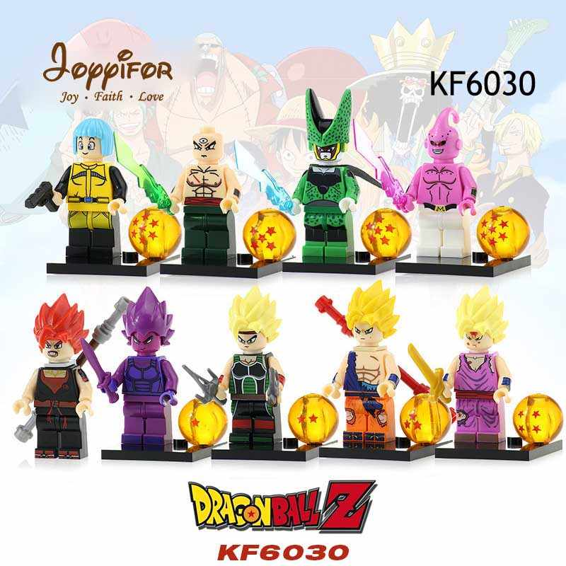 JOYYIFOR Super Hreoes Dragon Ball Action Figure Z Son Goku Vegeta Master  Building Block Toys for Children Best Gifts