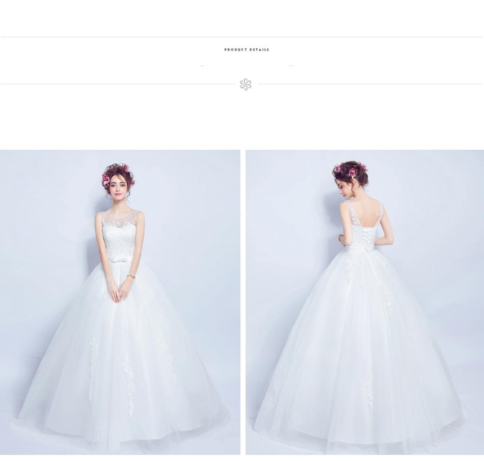 Angel Wedding Dress Marriage Bride Bridal Gown Vestido De Noiva 2017 Lace, flowers, perspective, backless 612 15