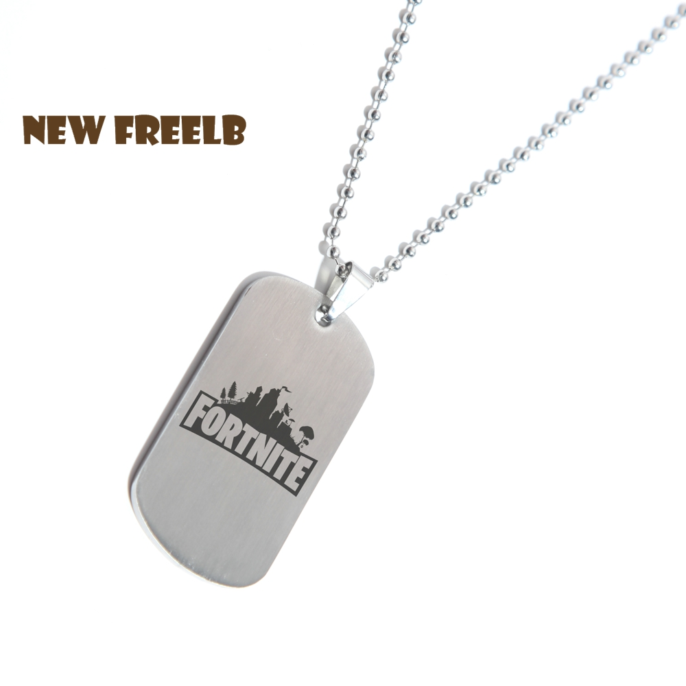 Game fortnite logo necklace stainless steel for Do pawn shops buy stainless steel jewelry