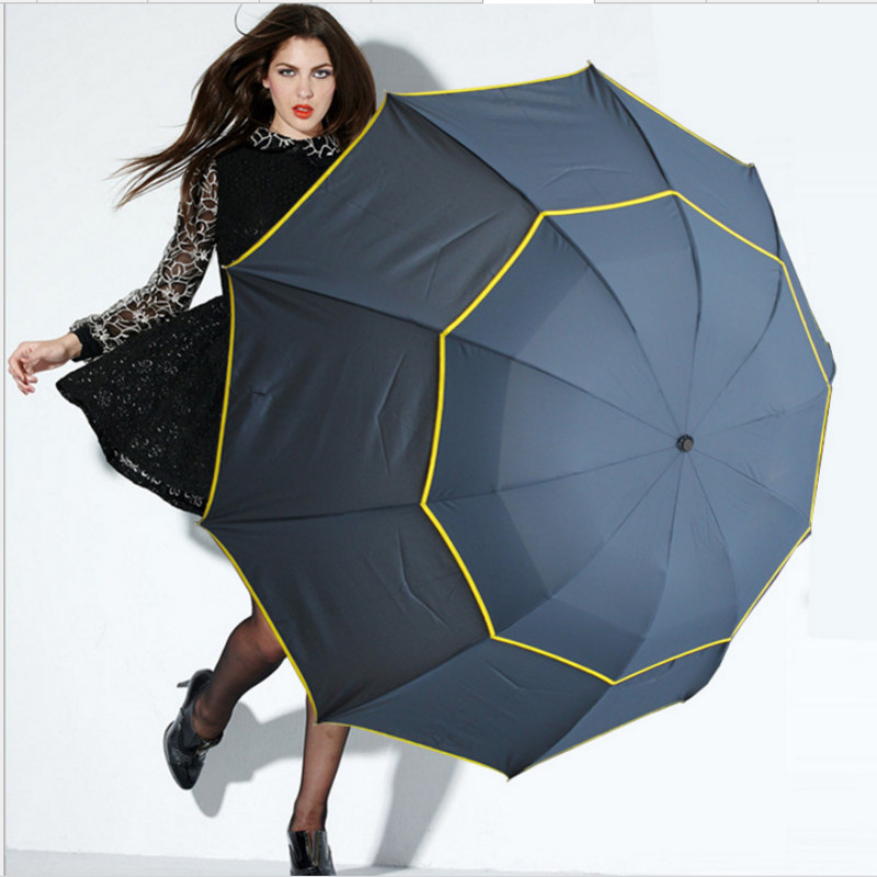 130cm Big Top Quality Umbrella Men Rain Woman Windproof Large Paraguas Male Women Sun 3 Floding Big Umbrella Outdoor Parapluie-in Umbrellas from Home & Garden