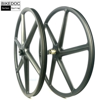 BIKEDOC Chinese 29ER Lefty Hub MTB Carbon Fiber Bike Wheels Tubeless Bicycle Wheelset Front Lefty 1.0 MTB 6 Spoke Wheels Bicycle Wheel Sports & Entertainment -