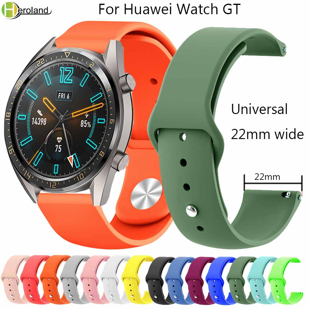 22mm Soft Silicone Watch Strap For Huawei Watch GT Silicone WristBands For Honor Smart Watch Magic Replacement Bracelet Band