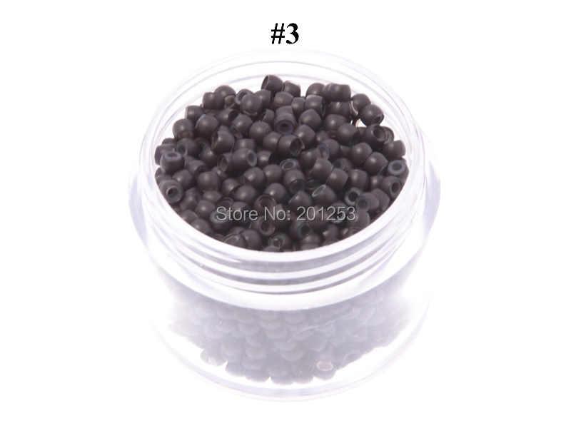 100pcs 2.9mm Diameter Siliconen Haar Kralen Nano Ring Micro Kralen Fashion Salon Hairstylist Haarverlenging Gereedschap 7 Kleuren LZH0081