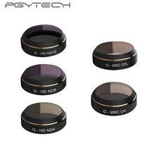 PGYTECH 5 шт./компл. объектив Фильтры G-HD-MRC(УФ ND4 ND8 ND16 CPL) объектив для DJI MAVIC Pro Аксессуары для дрона квадрокоптера