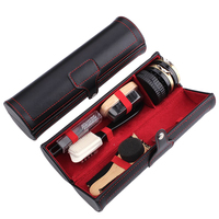 Deluxe Barrel Shoe Shine Kit Neutral Polish Brushes 10pcs a Set for Boots Shoes Cleaning Care