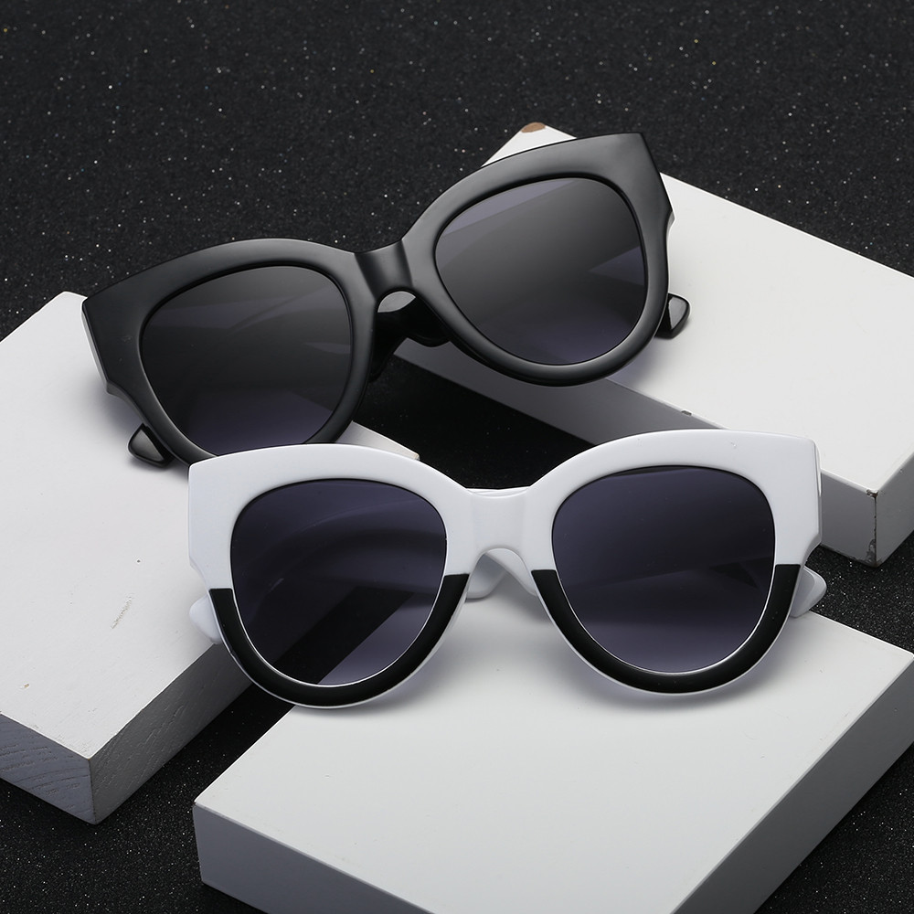 New Stylish Women Fashion Unisex Oval Shades Casual Retro Patchwork Sunglasses Integrated UV Glasses 2018 Gifts F70