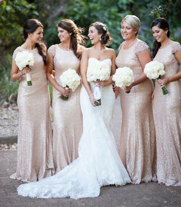 High Collar Wedding Dress Bridesmaid