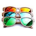 BOBOBIRD Marca de Design de Luxo Feitos À Mão Óculos De Sol De Bambu Quadrado Quadro Homens Óculos de Sol Óculos Polarizados 2017 Com Caixa Criativo