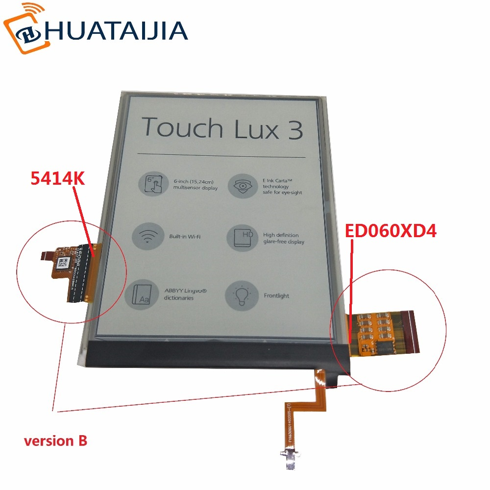 6 Inch Lcd And Touch Screen With Backlight For PocketBook Touch Lux 3 626 Plus 626+ 2GEN PB626(2)-D-WW Reader Matrix DISPLAY(China)