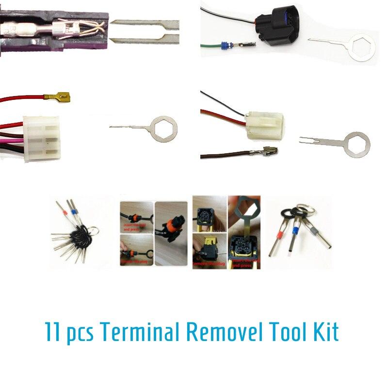 11pcs/Set Car Terminal Removal Key Repair Hand Tool Kit Electrical ...