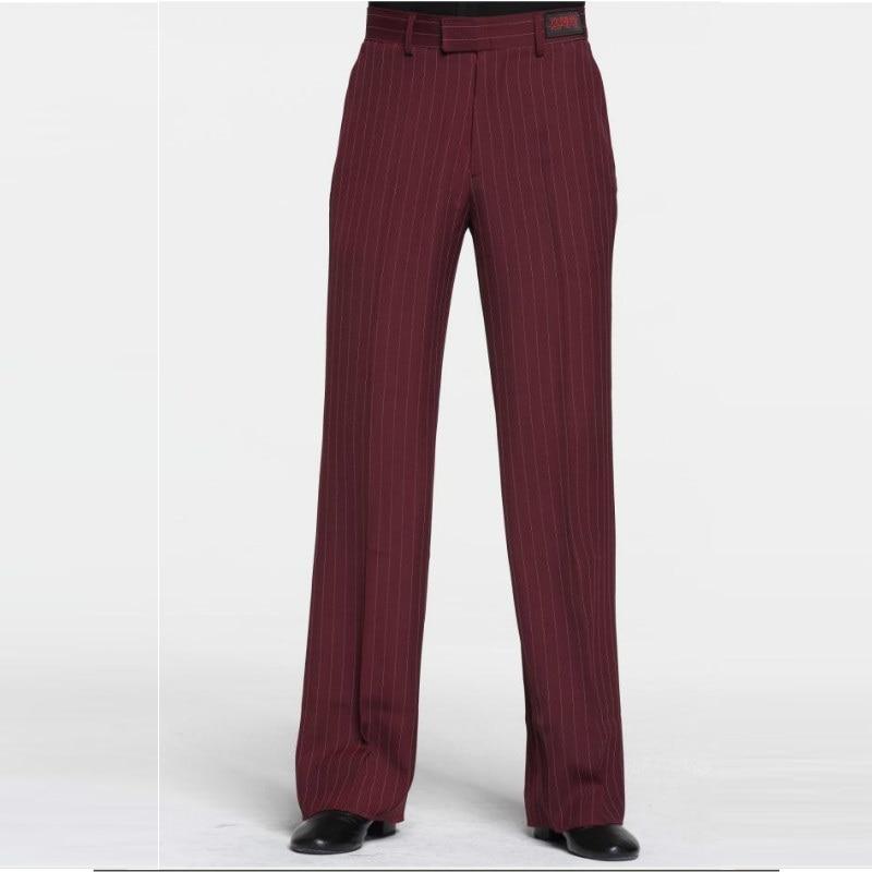 Sexy Latin Dance Pants Men's Red Ballroom Dancing Clothes Men Rumba Samba Profession Modern Square Chacha Trousers B-6976 2