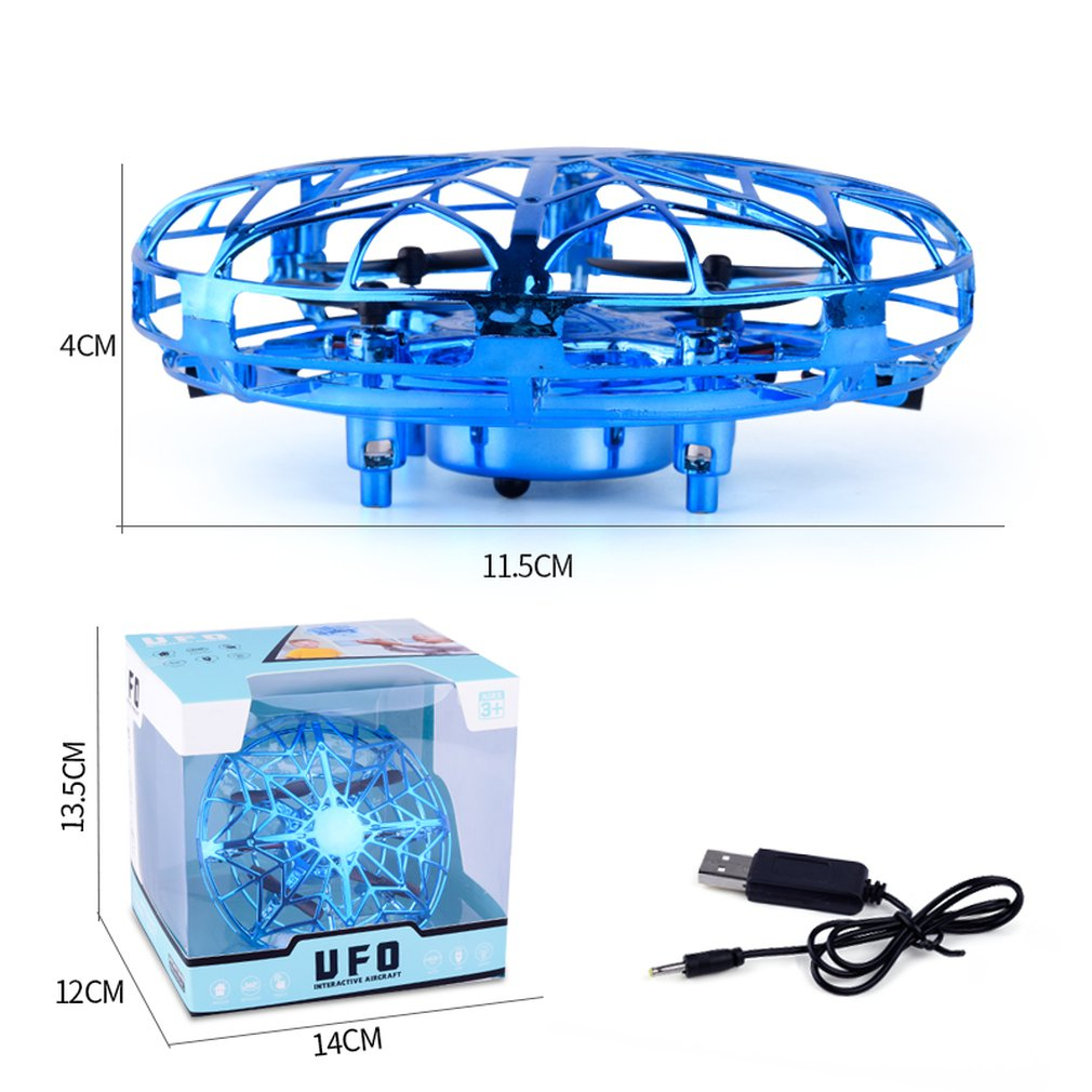 Mini RC Drone With Sensors Quadcopter Gyro Fly Ball Smart Shatterproof Pocket UFO Induction Safe Toys Gifts For Kids