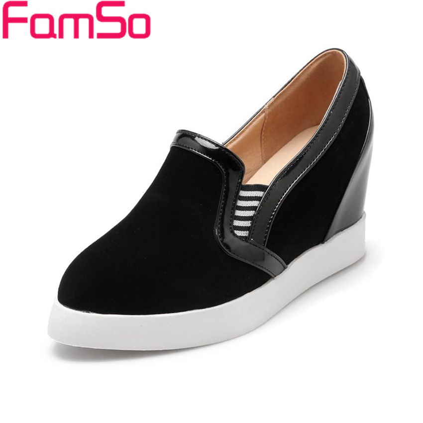 Free shipping 2016 new Arrival font b Women b font Spring Autumn Wedges Pumps Pointed Toe