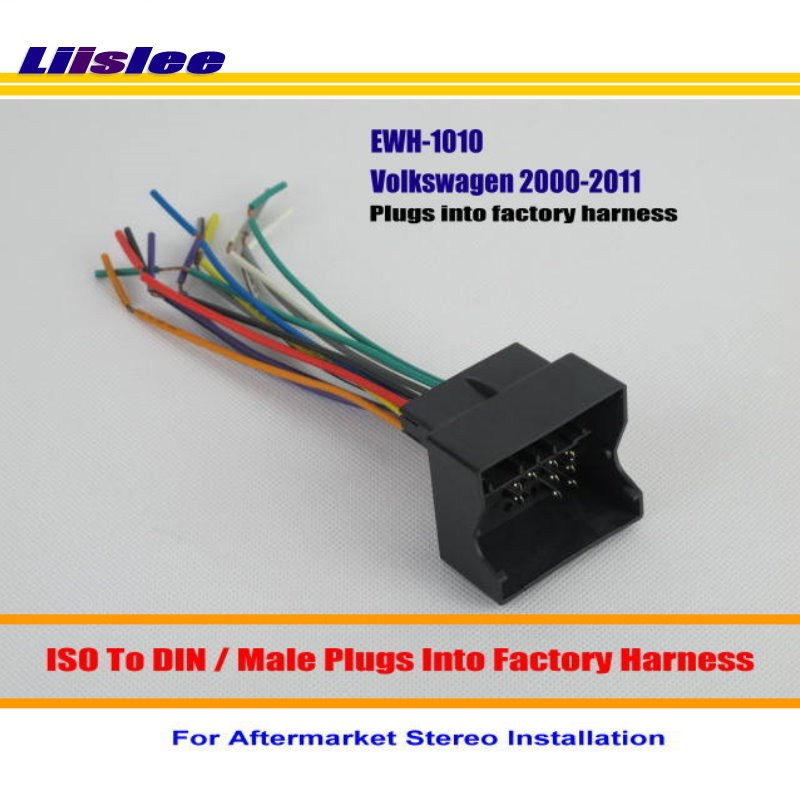 Liislee For Volkswagen Beetle Cabrio Cc Eos Gli Golf Gti Male Iso Radio Wire Cable Wiring Harness Car Stereo Adapter Connector In Cables
