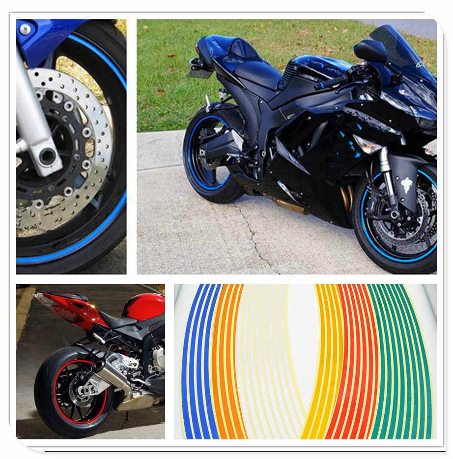 WHEEL RIM STRIPES TAPE DECALS STICKERS FOR YAMAHA MOTORCYCLES MT FZ R6 R1 FAZER