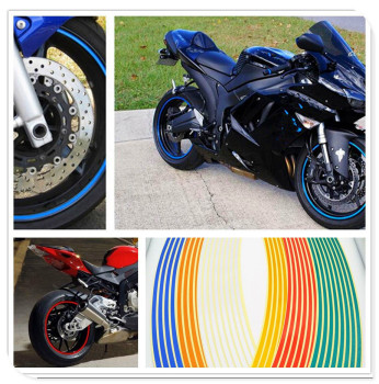 Strips Motorcycle Wheel Sticker Reflective Decals Rim Tape Bike Car Styling For YAMAHA TDM 900 Aprilia MANA MODEL RST1000 image