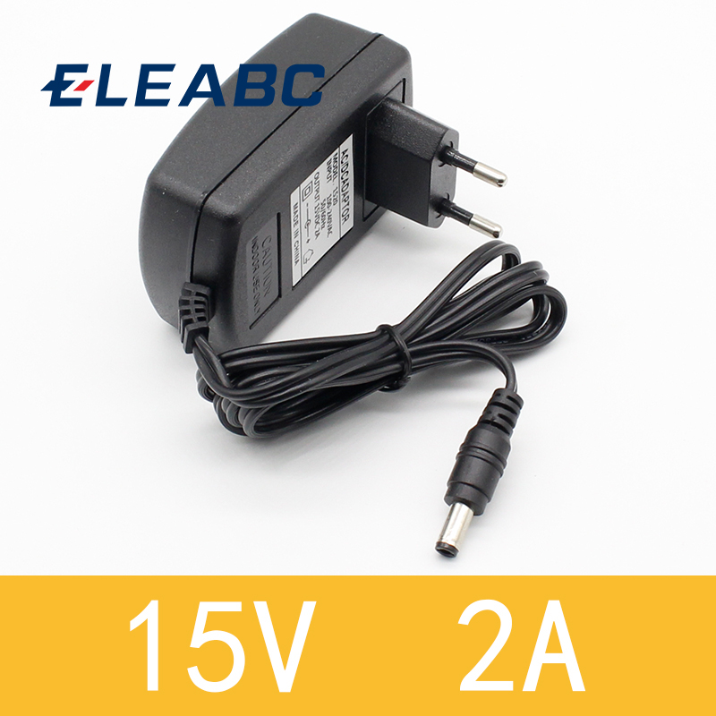 1pcs high quality 15V2A AC 100V-240V Converter <font><b>Adapter</b></font> DC <font><b>15V</b></font> 2A 2000mA Power Supply EU Plug 5.5mm x 2.1-2.5mm image