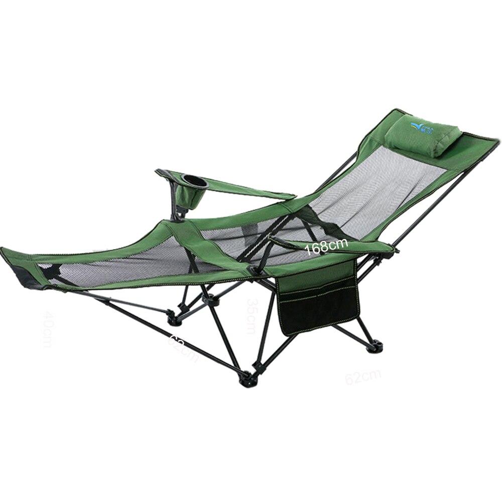 2018 Plage Avec Sac Portable Chaises Pliantes Pêche Camping Chaise Siège Oxford Tissu Léger Siège pour acier inoxydable dans Chaises de plage de Meubles
