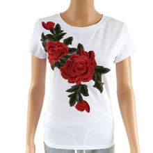 Heyouthoney Mode Sexy T-shirt Rose borduren Harajuku T-Shirt Vrouwen 2017 Zomer Toevallige Tee Korte Mouw T-shirt Shirts mujer(China)