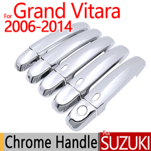 Для Защитные чехлы для сидений, сшитые специально для Suzuki Grand Vitara 2006- хромированные покрытия для дверных ручек 3 дверь 5 Аксессуары 2007 2008 2009 2010 2011 2012 стайлинга автомобилей