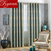 Jacquard Curtains Sheer Voile Curtinas European Window Modern Living Room Curtains Tulle Shade Fabrics Cortinas Rideaux