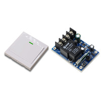 Wide Voltage DC12V 24V 36V 48V 30A 1CH Wireless Stairway Remote Control Switch Transmitter With Receiver