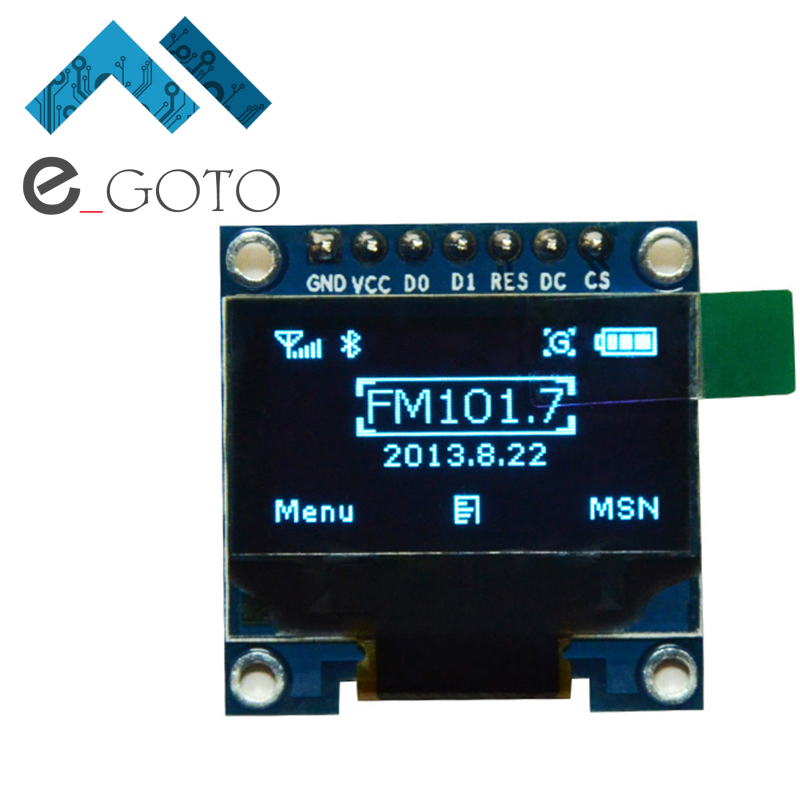 0 96 inch IIC SPI Serial 128X64 Blue OLED Display Module I2C 12864 LCD Screen Board