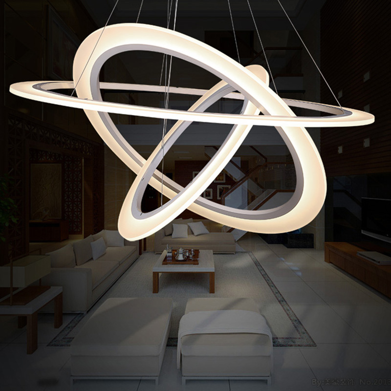 Aliexpresscom  Buy Modern 3 Ring Led Pendant Lamp For