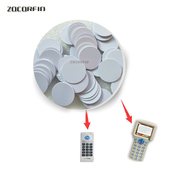 10pcs 25mm 125khz Em5200/T5557 RFID Rewritable Coin copy/duplicate use for copier image