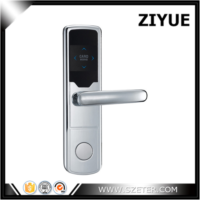 RFID RF Card Hotel digital door lock Temic Card key keyless Hotel door locks with manual key ET668RF high class digital electronic rfid card hotel door handle locks with master card key options et820rf